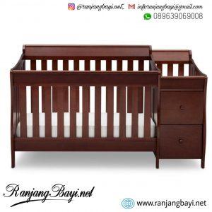 box bayi tafel kayu mahoni