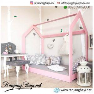 tempat tidur anak murah pink