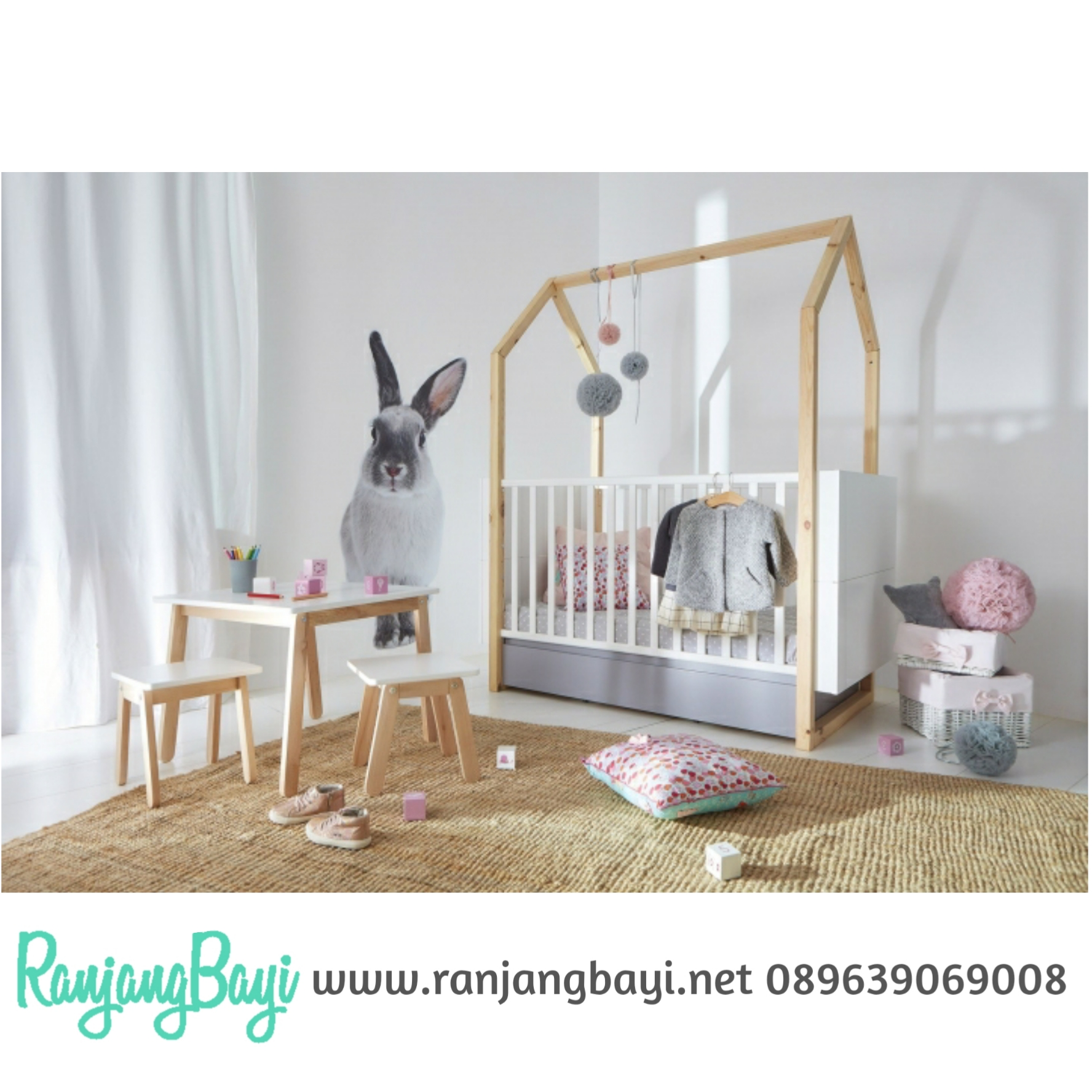Box Bayi Unik Terbaru Scandinavian Desain Kamar Bayi Ranjang Bayi Tempat tidur bayi unik