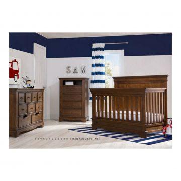 set kamar bayi kayu jati
