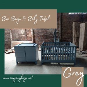 set kamar bayi minimalis grey