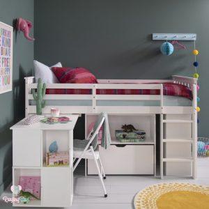 Tempat tidur anak dan meja belajar terbaru
