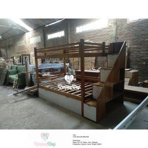 bunk bed kayu jati terbaru